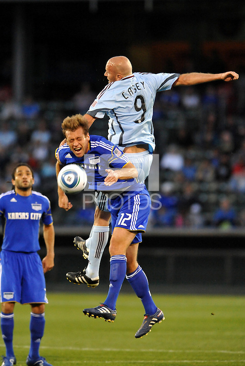 Conor Casey#9, Jimmy Conrad...Kansas City Wizards defeated Colorado Rapids 1-0 at Community America Ballpark, Kansas City, Kansas.