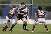 Kristian Ormsby on 1 of his many runs during the Air NZ Cup game between the Counties Manukau Steelers and Southland played at Mt Smart Stadium on 3rd September 2006. Counties Manukau won 29 - 8.
