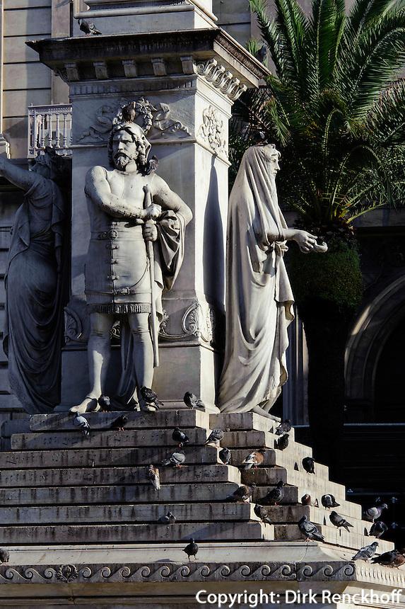 Denkmal Vincenzo Bellini auf  Piazza Stesicoro  in  Catania, Sizilien, Italien