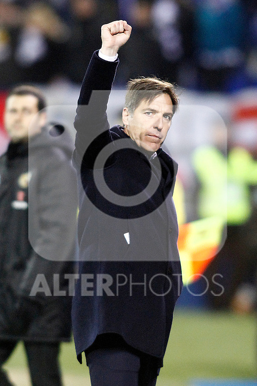 Celta de Vigo's coach Eduardo Toto Berizzo celebrates the victory in La Liga match. January 28,2017. (ALTERPHOTOS/Acero)