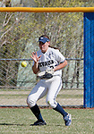 April 20, 2012:   Nevada Wolf Pack centerfielder Sara Parsons fields the ball against the  University of Hawai'i Warrior during their NCAA softball game played at Christina M. Hixson Softball Park on Friday in Reno, Nevada.
