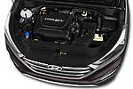 Car stock 2018 Hyundai Tucson Executive 5 Door SUV engine high angle detail view