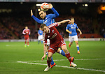 Aberdeen v St Johnstone...01.01.15   SPFL<br /> Johnny Hayes and Lee Croft<br /> Picture by Graeme Hart.<br /> Copyright Perthshire Picture Agency<br /> Tel: 01738 623350  Mobile: 07990 594431