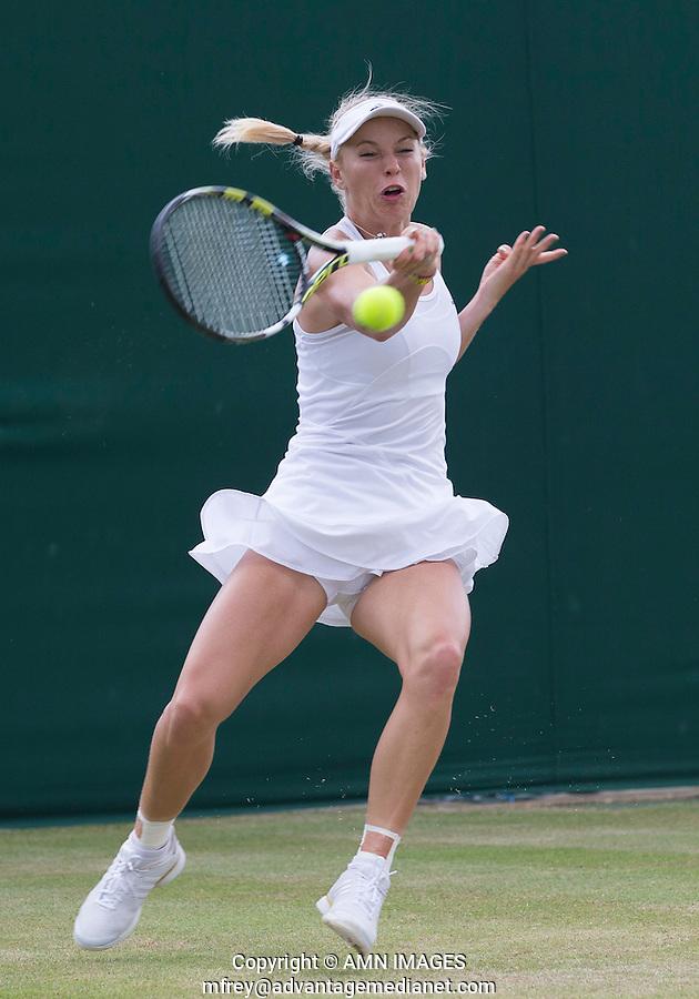 CAROLINE WOZNIACKI (DEN)<br /> <br /> The Championships Wimbledon 2014 - The All England Lawn Tennis Club -  London - UK -  ATP - ITF - WTA-2014  - Grand Slam - Great Britain -  30th June 2014. <br /> <br /> &copy; AMN IMAGES
