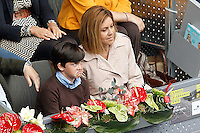 Maria Dolores de Cospedal García, General Secretary of the Popular Party and her son during Madrid Open Tennis 2016 Semifinal match.May, 7, 2016.(ALTERPHOTOS/Acero) /NortePhoto.com