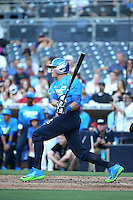 Conner Uselton (16) of the West Team bats against the East Team during the Perfect Game All American Classic at Petco Park on August 14, 2016 in San Diego, California. West Team defeated the East Team, 13-0. (Larry Goren/Four Seam Images)