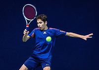 Hilversum, Netherlands, December 2, 2018, Winter Youth Circuit Masters, Zacharias Alpassa (NED)<br /> Photo: Tennisimages/Henk Koster