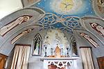 Altar and Fresco in Italian Chapel, Orkney Island, Scotland