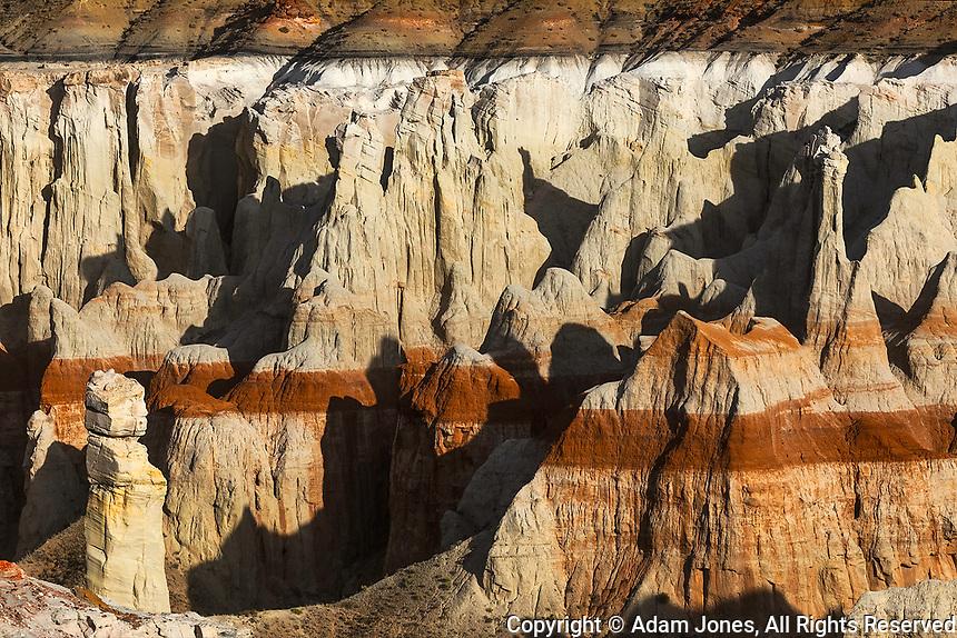 Hoodoo, Coal Mine Canyon near Tuba City, Arizona, part of the Moenkopi Wash.  Sits  between the Navajo and Hopi Reservations