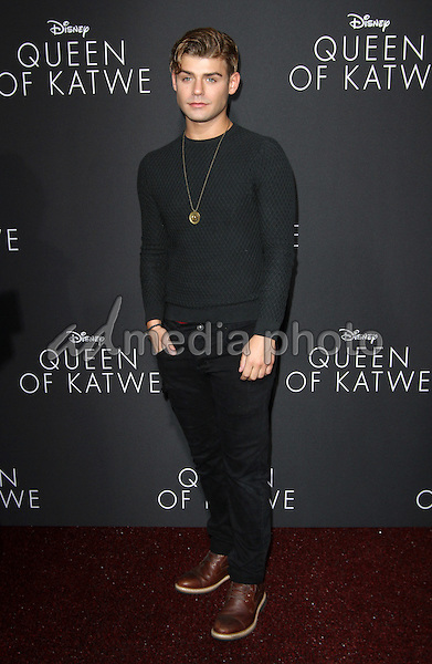 """20 September 2016 - Hollywood, California - Garrett Clayton. """"Queen Of Katwe"""" Los Angeles Premiere held at the El Capitan Theater in Hollywood. Photo Credit: AdMedia"""