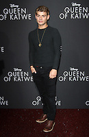 "20 September 2016 - Hollywood, California - Garrett Clayton. ""Queen Of Katwe"" Los Angeles Premiere held at the El Capitan Theater in Hollywood. Photo Credit: AdMedia"