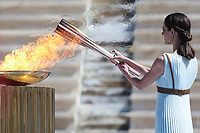 2020 Olympic Flame is Handed to Japanese Contingent in Athens Mar 19th
