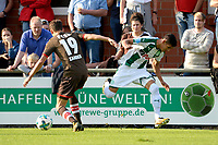 ROTINGHAUSEN - Voetbal, Sankt Pauli - FC Groningen, oefenduel, 01-09-2017, FC Groningen speler Uriel Antuna in duel net Luca Milan Zander