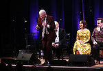 Steve Martin, Carmen Cuscak and Rob Berman  on stage during 'Bright Star' In Concert at Town Hall on December 12, 2016 in New York City.