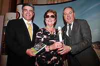 Repro Free.Eoghan Corry Travel Extra, Muriel Bolger Dublin City of literature and Clem Walshe Low Cost Holidays. Muriel Bolger winner ofthe Travel Book of the Year Award sponsored by Lowcostholidays.ie.Travel Extra,Travel Journalist of the Year Awards at the Thomas Prior House Ballsbridge. The event which was sponsored by The Spanish Tourist board gave out 12 awards for different catagories. .This year saw a huge increase in the number of submissions from previous years, displaying the creativity and continuning innovation of travel and tourism journalism in Ireland..Collins Photos 25/1/13