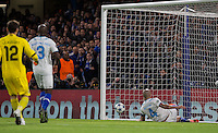 Maicon of FC Porto fails to keep out Ivan Marcano Sierra  of FC Porto Own Goal during the UEFA Champions League group G match between Chelsea and FC Porto at Stamford Bridge, London, England on 9 December 2015. Photo by Andy Rowland.