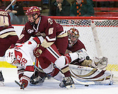 Conor Morrison (Harvard - 38), Patrick Wey (BC - 6) - The Boston College Eagles defeated the Harvard University Crimson 3-2 on Wednesday, December 9, 2009, at Bright Hockey Center in Cambridge, Massachusetts.