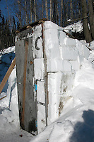 The outhouse at Eagle Island is made of snow bricks. Photo by Jon Little.