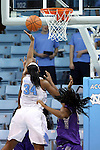 21 December 2013: North Carolina's Xylina McDaniel (34). The University of North Carolina Tar Heels played the High Point University Panthers in an NCAA Division I women's basketball game at Carmichael Arena in Chapel Hill, North Carolina. UNC won the game 103-71.