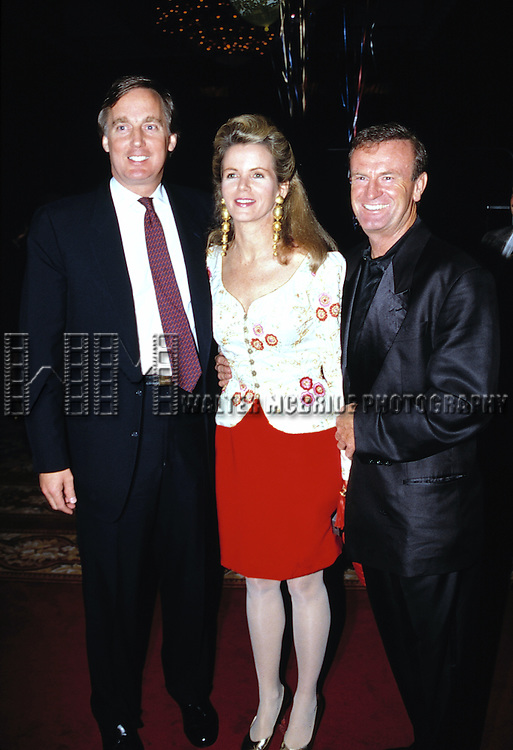 Robert Trump with his wife Blaine Trump and Peter Allen.Attending a Birthday celebration for his brother Donald Trump at the Trump Castle in Atlantic City, New Jersey..June 1991.© Walter McBride /