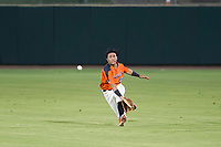 AZL Giants center fielder Ismael Munguia (29) attempts to make a sliding catch during Game Three of the Arizona League Championship Series against the AZL Cubs on September 7, 2017 at Scottsdale Stadium in Scottsdale, Arizona. AZL Cubs defeated the AZL Giants 13-3 to win the series two games to one. (Zachary Lucy/Four Seam Images)