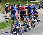 Deceuninck-Quick Step with sprinter Dutch Champion Fabio Jakobsen (NED) during Stage 14 of La Vuelta 2019  running 188km from San Vicente de la Barquera to Oviedo, Spain. 7th September 2019.<br /> Picture: Karlis | Cyclefile<br /> <br /> All photos usage must carry mandatory copyright credit (© Cyclefile | Karlis)