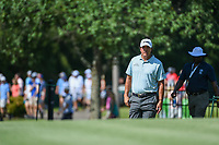 Phil Mickelson (USA) approaches the tee on 8 during round 4 of the WGC FedEx St. Jude Invitational, TPC Southwind, Memphis, Tennessee, USA. 7/28/2019.<br /> Picture Ken Murray / Golffile.ie<br /> <br /> All photo usage must carry mandatory copyright credit (© Golffile | Ken Murray)