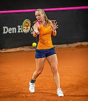 The Hague, The Netherlands, Februari 4, 2020,  Sportcampus , FedCup  Netherlands - Balarus, Dutch team practise, Kiki Bertens<br /> Photo: Tennisimages/Henk Koster