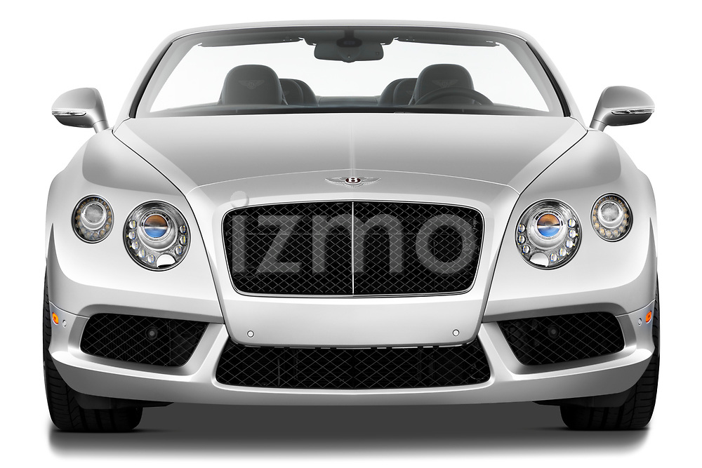 Straight front view of a 2013 - 2014 Bentley Continental GTC Convertible.