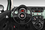 Car pictures of steering wheel view of a 2015 Fiat 500 POP 3 Door Hatchback Steering Wheel