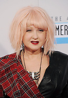 LOS ANGELES, CA - NOVEMBER 18: Cyndi Lauper at The 40th Annual American Music Awards at The Nokia Theater LA Live, in Los Angeles, California. November 18, 2012. Photo by: MPI99 / MediaPunch Inc NortePhoto