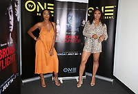 10 July 2019 - Los Angeles, California - DomiNique Perry, Tamala Jones. LA Press Junket For TV One's A Month Of Love, Lies, And Murder held at TV One Headquarters. Photo Credit: Faye Sadou/AdMedia