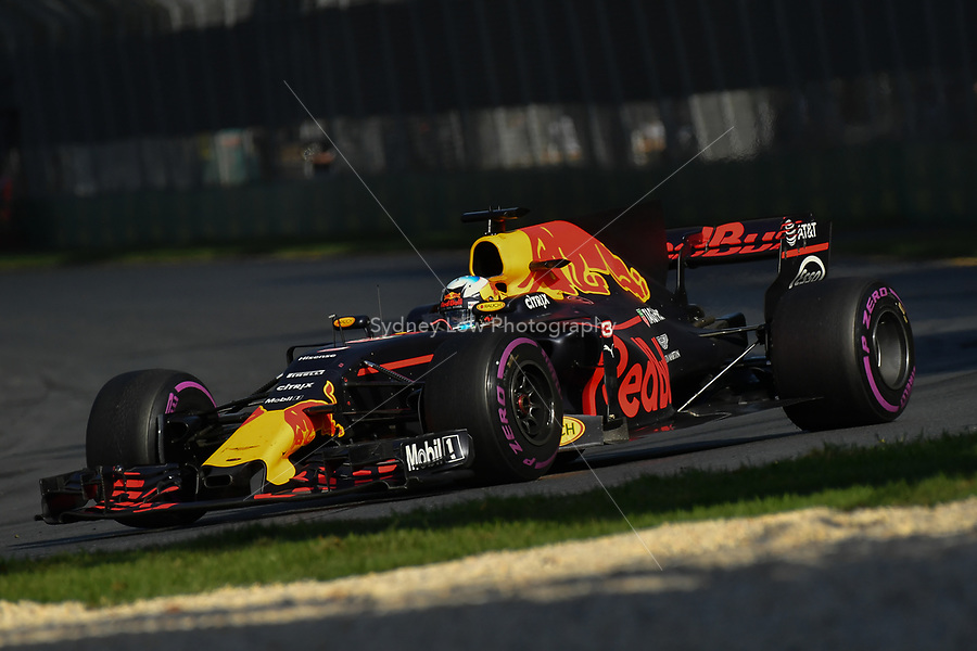 March 26, 2017: Daniel Ricciardo (AUS) #3 from the Red Bull Racing team at the 2017 Australian Formula One Grand Prix at Albert Park, Melbourne, Australia. Photo Sydney Low