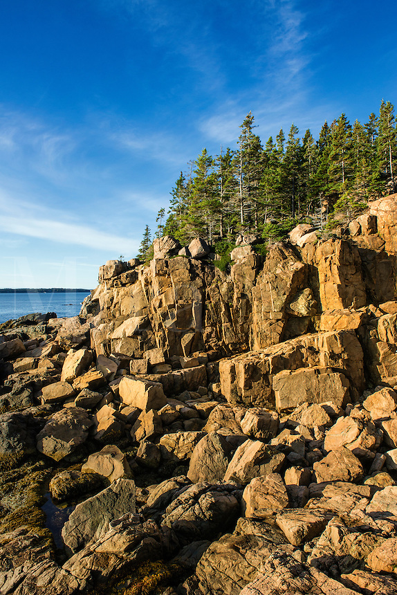 Coastal seascape, Acadia National Park, Maine, USA