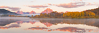 67545-08816 Sunrise at Oxbow Bend in fall, Grand Teton National Park, WY