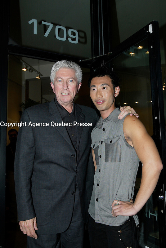 Montreal (QC) CANADA, October 3rd 2007 -<br /> Gilles Duceppe, leader of the Bloc Quebecois (L) at the<br /> Launch of Montreal Designer Dinh Ba, at his boutique on Amherst street in Montreal.<br /> <br /> <br /> photo : (c) &uml;Pierre Roussel -  images Distribution