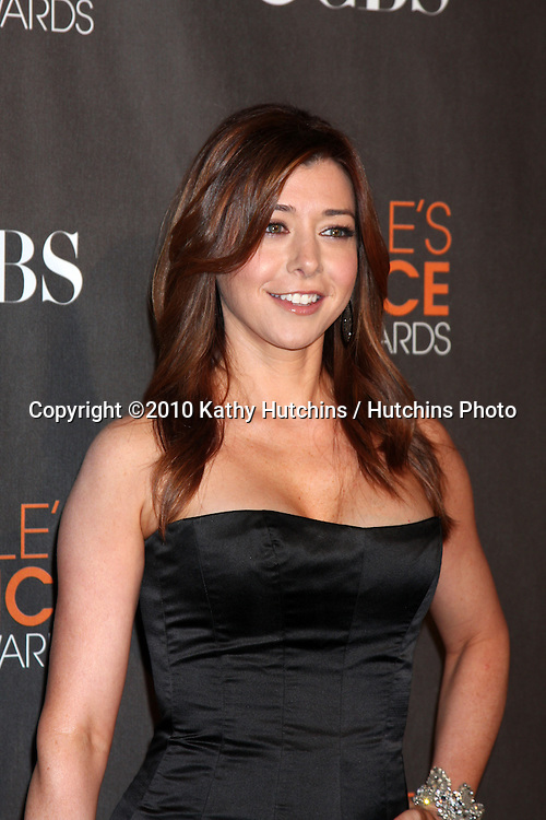 Alyson Hannigan.arriving  at the 2010 People's Choice Awards.Nokia Theater.January 6, 2010.©2010 Kathy Hutchins / Hutchins Photo.