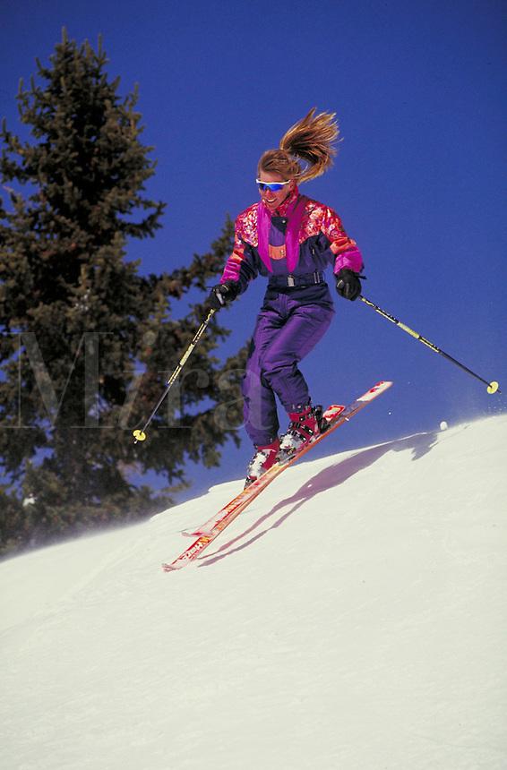 Lisa Laroue (MR473) Alpine Skiing, Breckenridge Ski Area, Summit County, Colorado. Lisa Laroue (MR473). Summit County, Colorado.