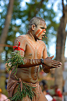 Cherbourg Dancer,  Laura Aboriginal Dance Festival, Laura, Cape York Peninsula, Queensland, Australia.