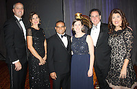 NWA Democrat-Gazette/CARIN SCHOPPMEYER Bradley and Alexis Smith (from left), Jose Leonor and Hannah Bahn and Eric and Elda Scott attend the O Night Divine VIP reception.