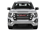 Car photography straight front view of a 2019 GMC Sierra 1500 SLT 4 Door Pick Up