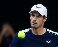 14th January 2019, Melbourne Park, Melbourne, Australia; Australian Open Tennis, day 1; <br /> Andy Murray of Great Britain looks during a match against Roberto Bautista Agut of Spain