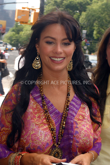 WWW.ACEPIXS.COM . . . . .  ....NEW YORK, JULY 22, 2005....Sofia Vergara outside her uptown hotel signs autographs and takes pictures.....Please byline: PAUL CUNNINGHAM - ACE PICTURES..... *** ***..Ace Pictures, Inc:  ..Craig Ashby (212) 243-8787..e-mail: picturedesk@acepixs.com..web: http://www.acepixs.com