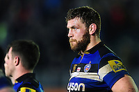 Dave Attwood of Bath Rugby looks dejected after the match. Aviva Premiership match, between Bath Rugby and Exeter Chiefs on December 31, 2016 at the Recreation Ground in Bath, England. Photo by: Patrick Khachfe / Onside Images