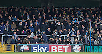 Wycombe supporters during the Sky Bet League 2 match between Wycombe Wanderers and Bristol Rovers at Adams Park, High Wycombe, England on 27 February 2016. Photo by Andrew Rowland.