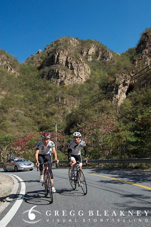 "Though the mass training ride was kept secret from the public, a few local cyclists were tipped off and joined the back-end of the group for a section of the day's climb.  They told VN, ""This is the biggest dream of our entire life."""