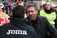 Atletico Madrid's coach Diego Pablo Simeone and Getafe´s coach Pablo Franco