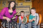 TUNING UP: Preparing for a series of new bodhran, drums and Uileann pipes music classes in north Kerry in the coming weeks, l-r: Denise Wren (Listowel Music School), Tadhg Barry, Patrick Brosnan.