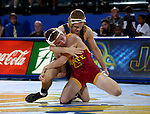BROOKINGS, SD - NOVEMBER 4:  Seth Gross from South Dakota State controls Nathan Boston from Iowa State in their 133 pound match Friday evening at Frost Arena in Brookings. (Photo by Dave Eggen/Inertia)