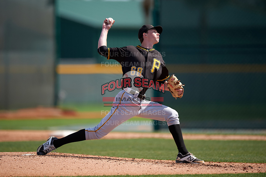 Pittsburgh Pirates Nathan Trevillian (68) during a minor league Spring Training intrasquad game on April 3, 2016 at Pirate City in Bradenton, Florida.  (Mike Janes/Four Seam Images)